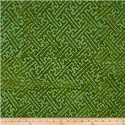 Indian Batiks Maze Green