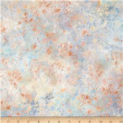 Batavian Batiks Crackle Light Blue/Peach Fabric