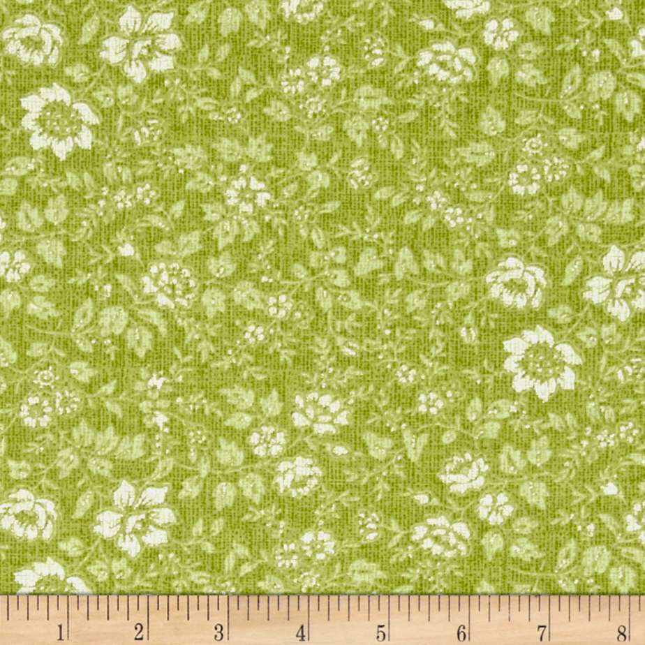 Piccadilly Floral Moss Fabric by Fabri-Quilt in USA