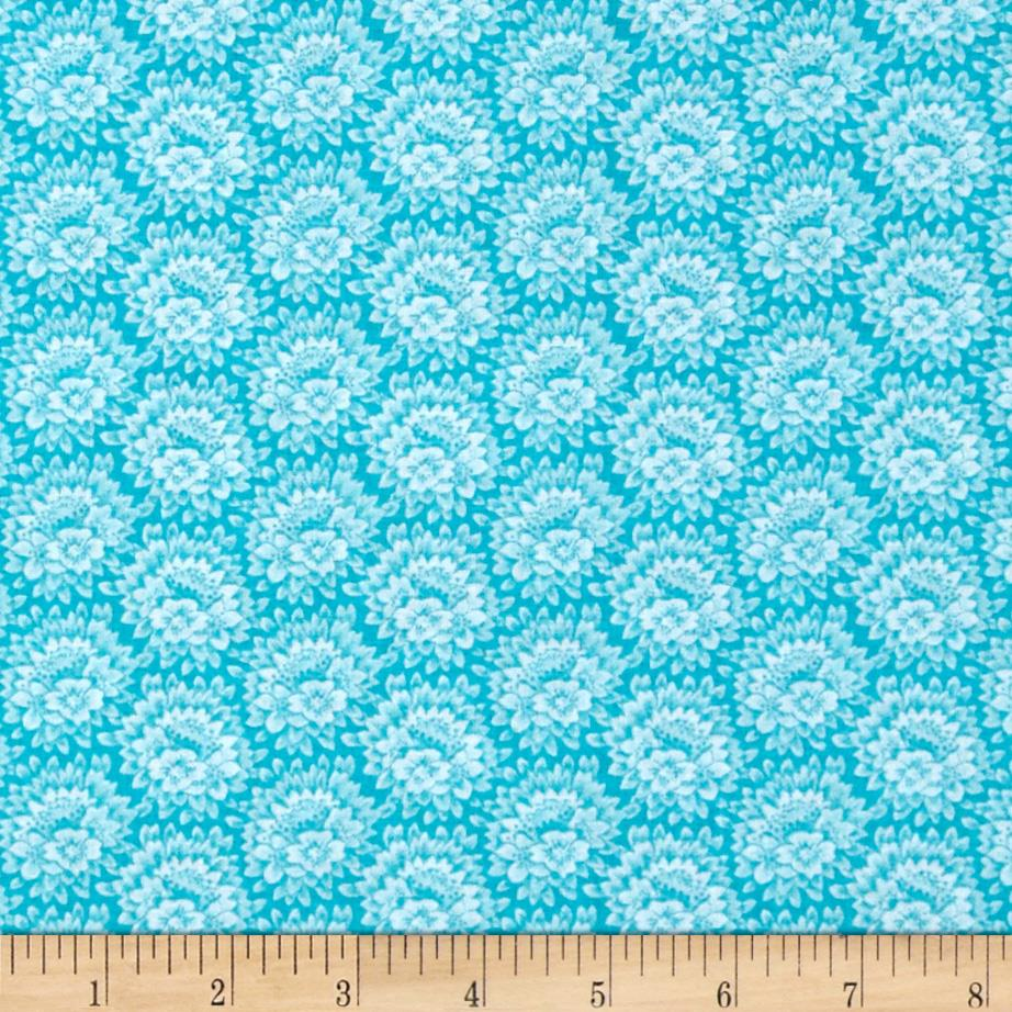 Jeweltone Classics Floral Turquoise