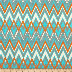 Premier Prints Savvy Chevron Mandarin/Natural Fabric