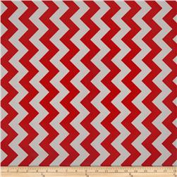 Riley Blake Laminated Cotton Medium Chevron Red/Grey