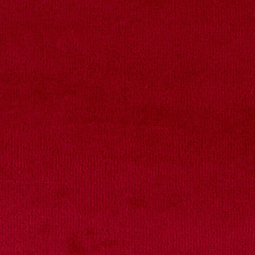 Cotton Poly Terry Velour Red