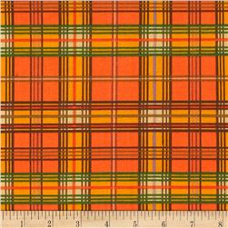 Bountiful Harvest Plaid Orange