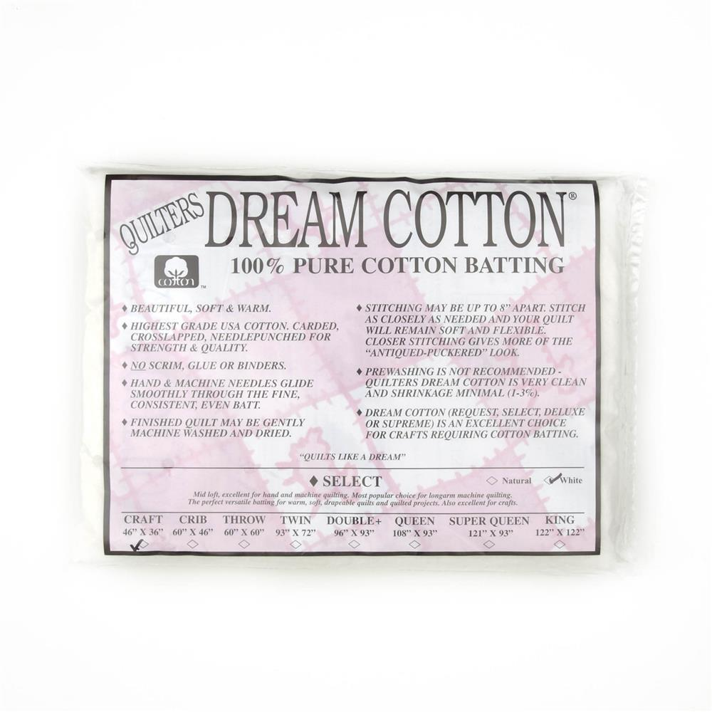 Quilter's Dream Natural Cotton White Select Batting (46