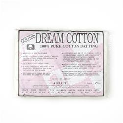 "Quilter's Dream Natural Cotton White Select Batting (46"" x 36"") Craft"