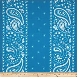 Cuteville Country Fair Bandana Border Blue
