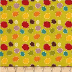 Riley Blake Giraffe Crossing 2 Dots Green
