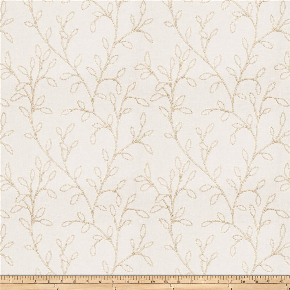 Fabricut Redraw Leaf Faux Linen Natural