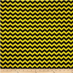 Minky Mini Chevron Bright Yellow/Black