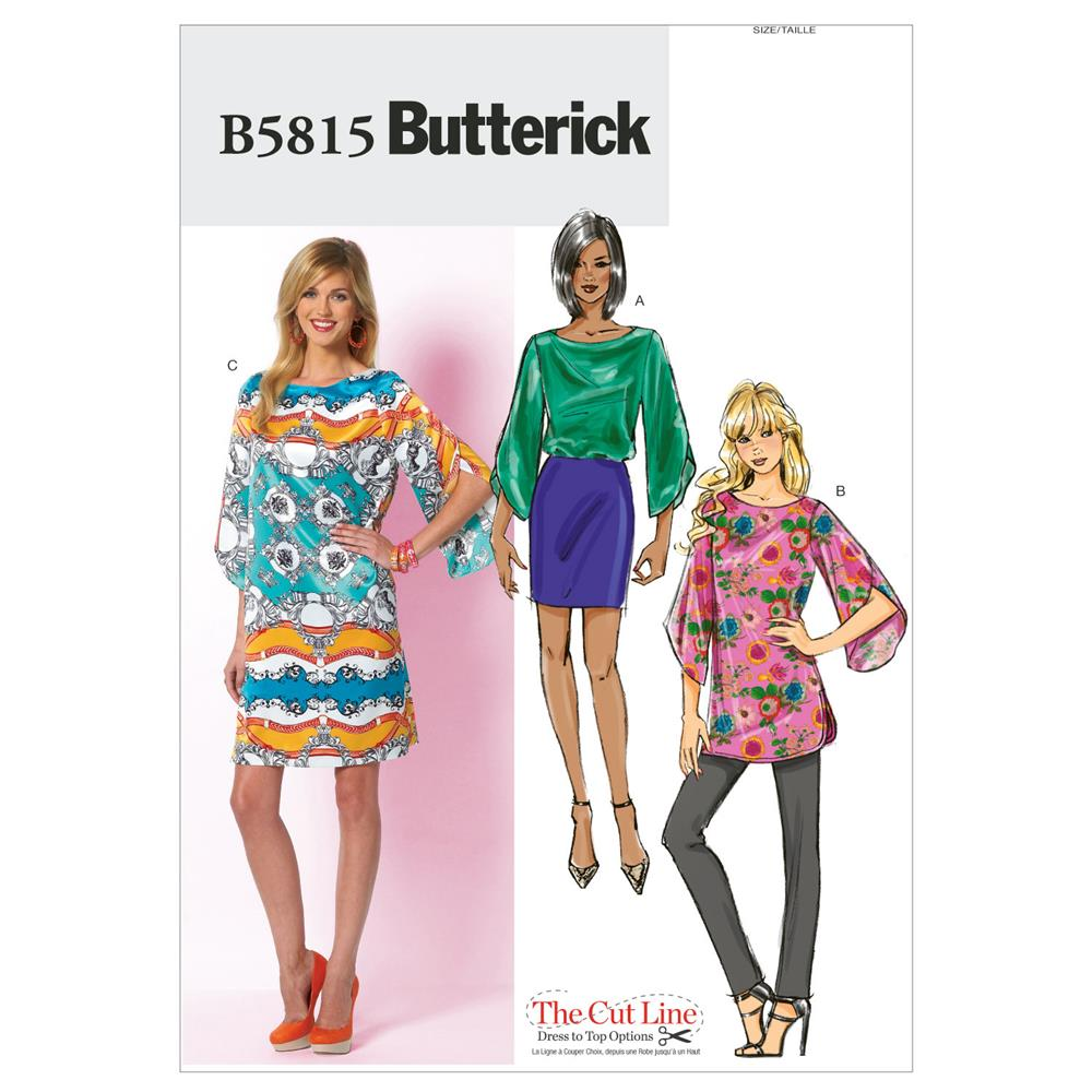 Butterick Misses' Top, Tunic and Dress Pattern B5815 Size B50