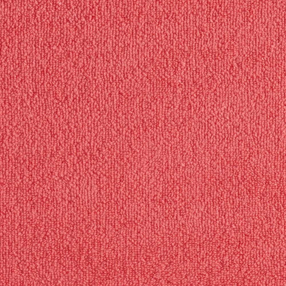 Cotton Blend Terry Cloth Knit Salmon Pink