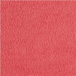 Cotton Blend Terry Cloth Knit Salmon Pink Fabric