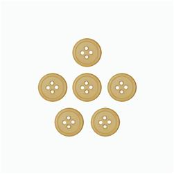 Dill Buttons 7/16'' Polyamid Button Beige