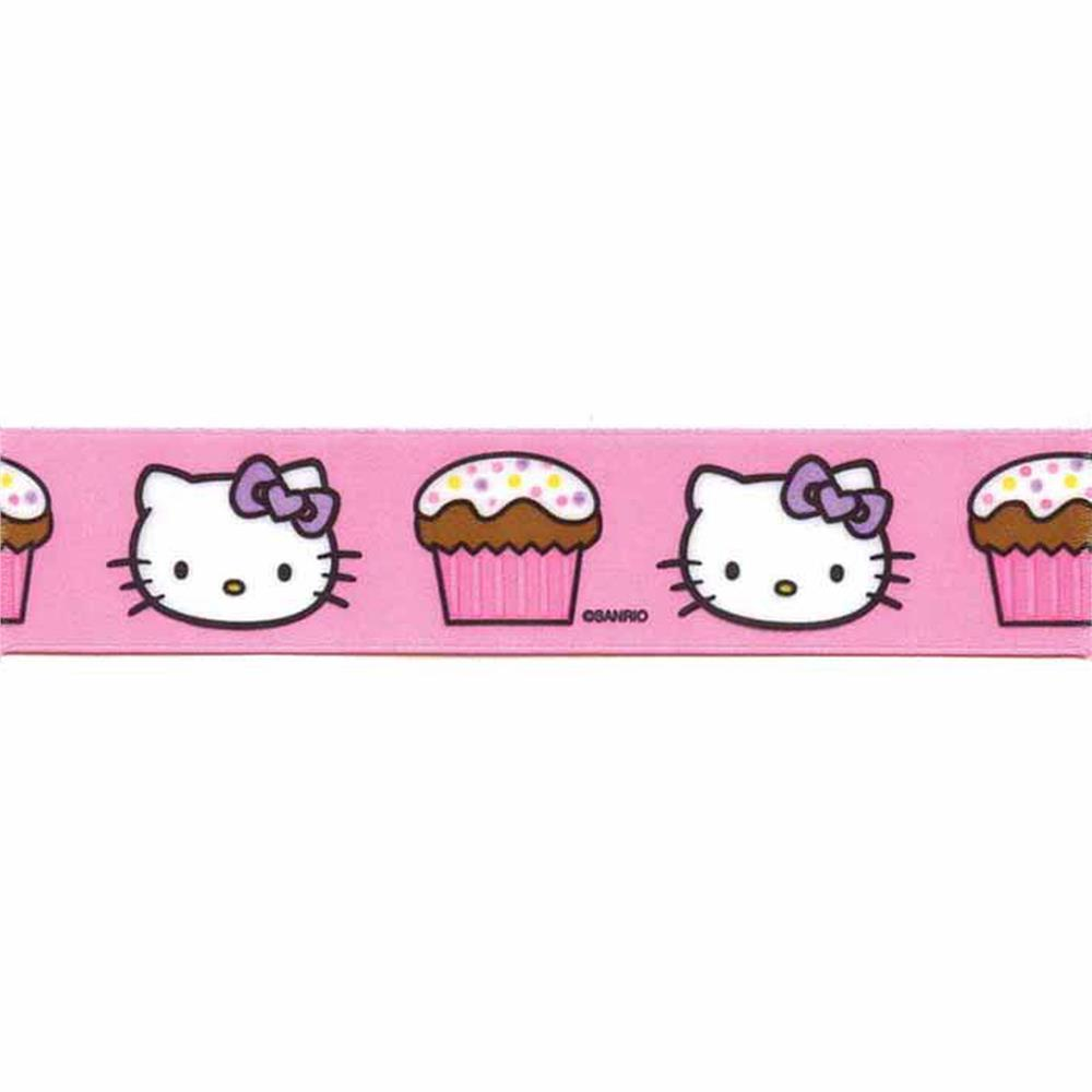 "7/8"" Hello Kitty Cupcake Ribbon Pink"