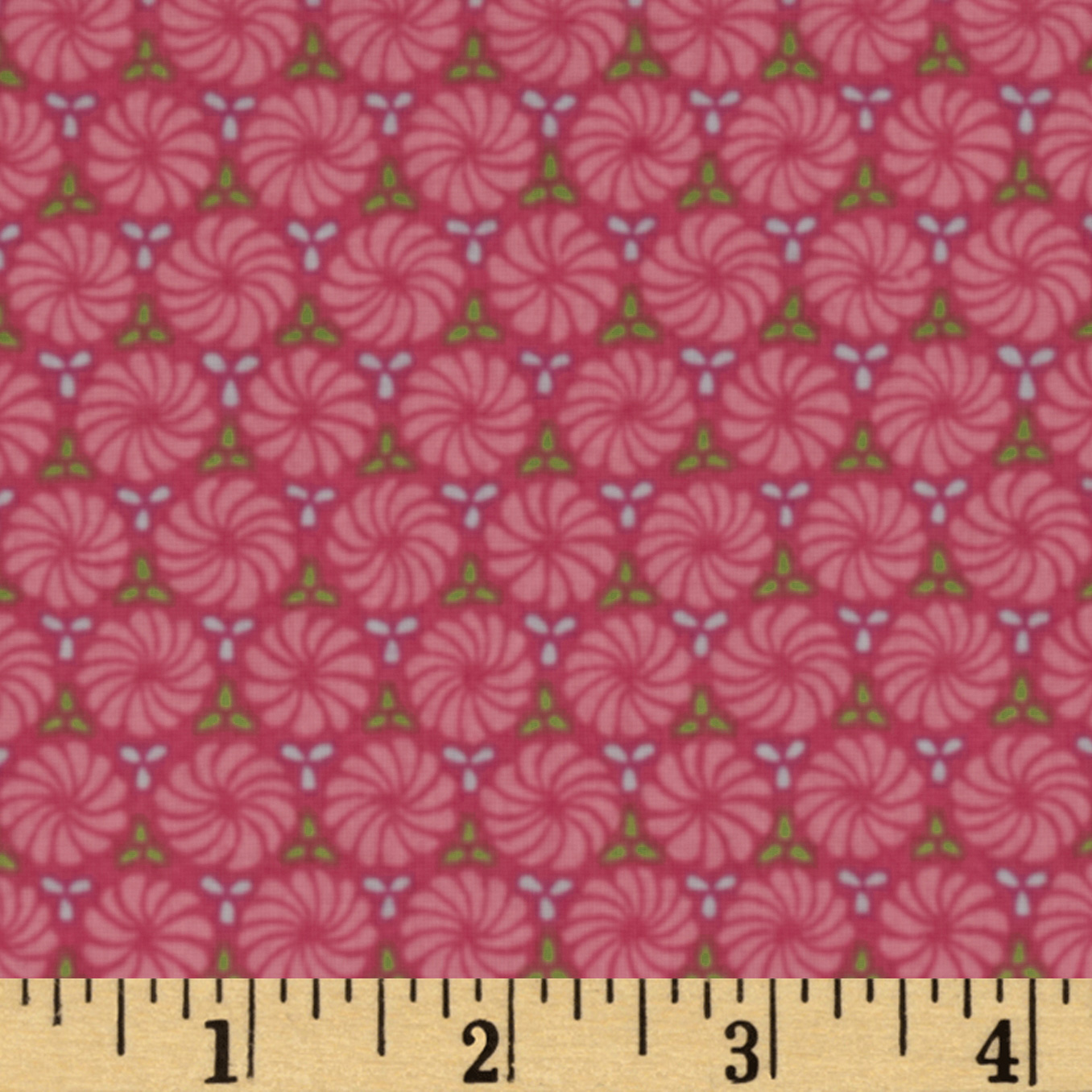 The Emma Collection Pinwheels Pink Fabric