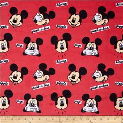 Disney Mickey Faces Minky Red
