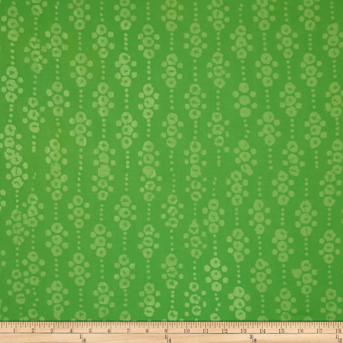 Indian Batik East Side Dots Lime