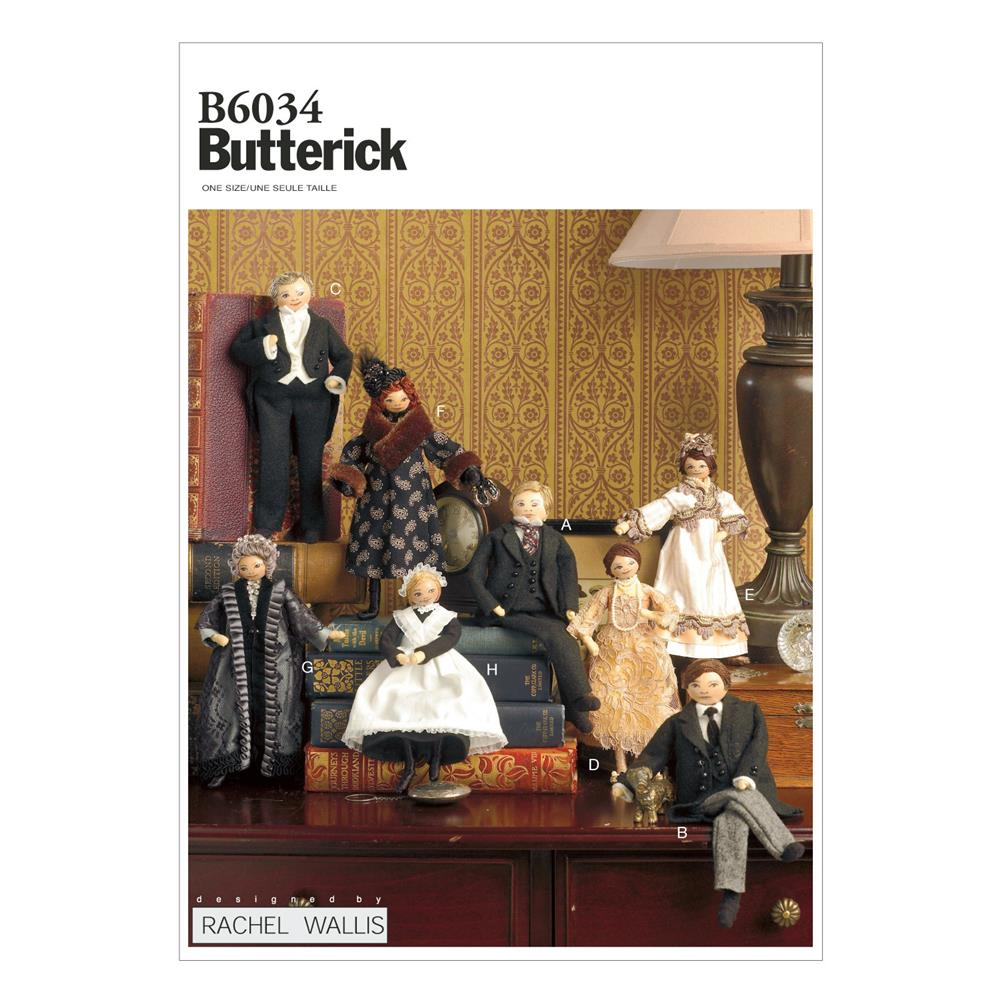 "Butterick 7 3/4"" to 9"" Dolls Pattern B6034 Size OSZ"