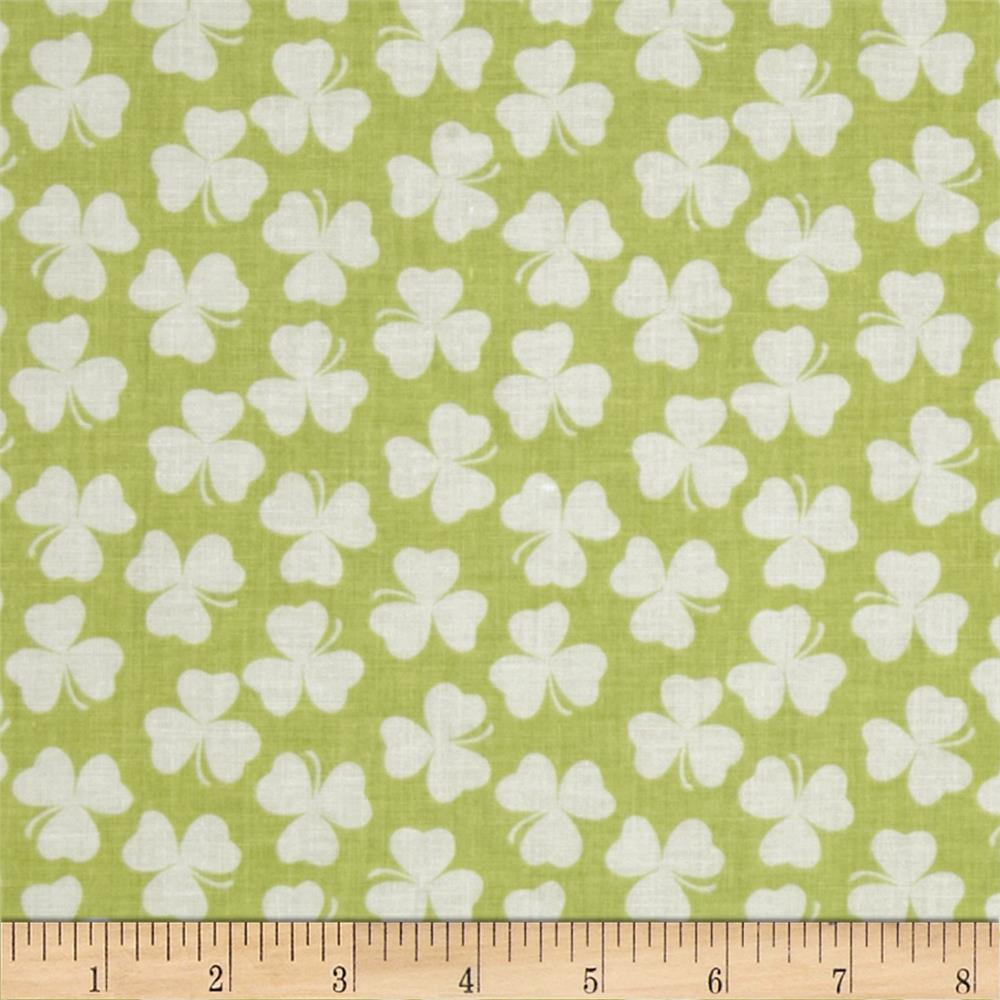 Riley Blake Holiday Banners Clover Shamrock
