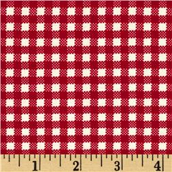 Moda April Showers Gingham Red