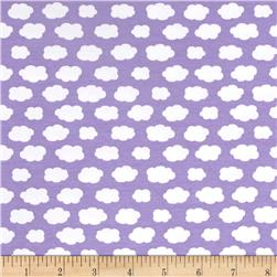 Avalana Jersey Knit Clouds Purple