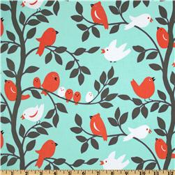 Michael Miller Sorbet Tweetie Pie Aqua Fabric