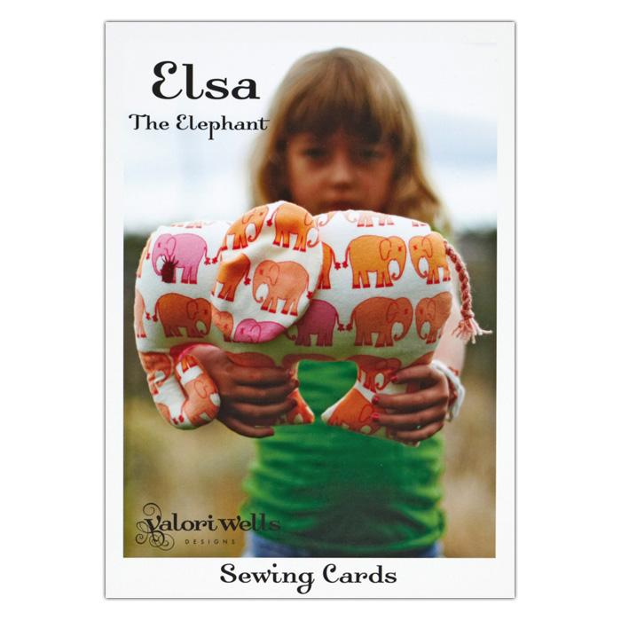 Valori Wells Elsa The Elephant Toy Sewing Card Pattern