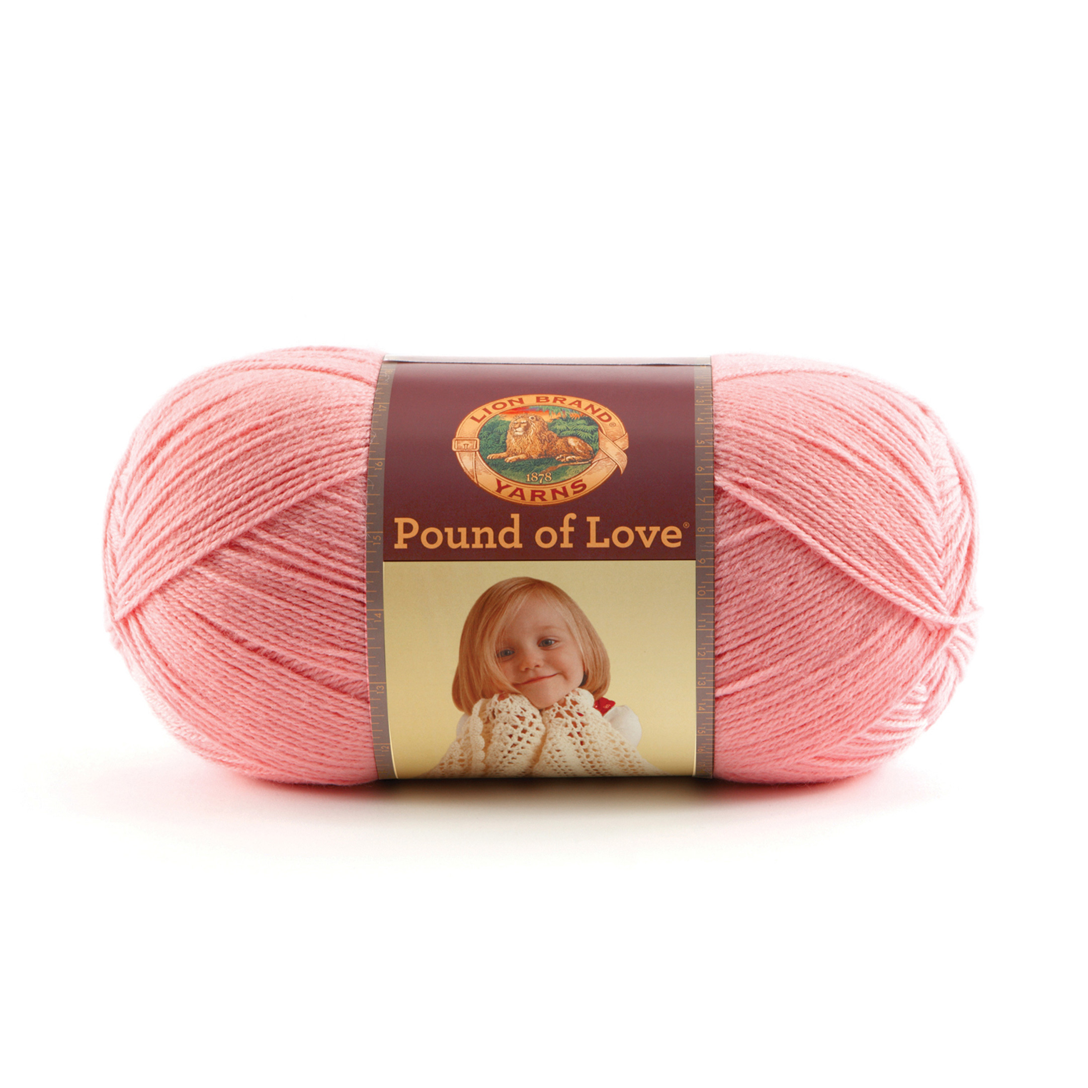 Lion Brand Yarn Pound of Love Pink by Lion in USA