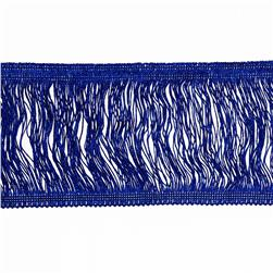 6'' Metallic Chainette Fringe Trim Royal Blue