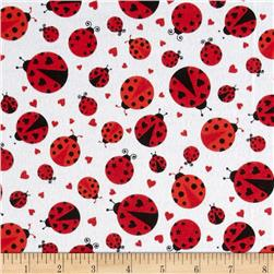Flannel Lady Bug Red