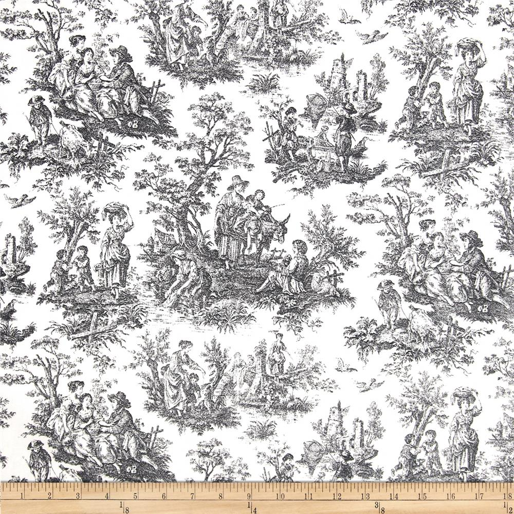 Waverly Rustic Life Toile Onyx