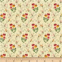 Moly B's 1800's Victoria's Violet Flower Stem Red/Cream
