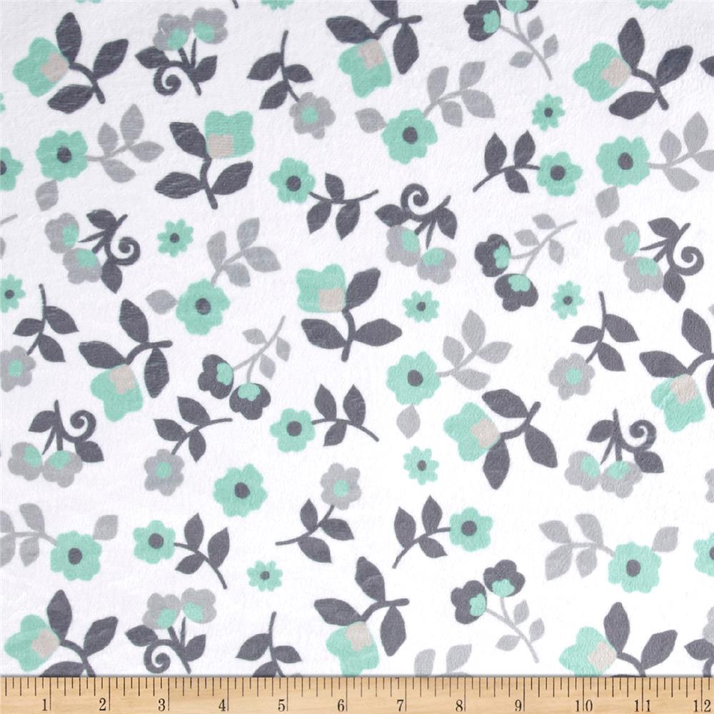 Wrong Minky Kashmir Floral Grey/Mint