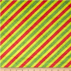 Minky Diagonal Knit Stripe Green