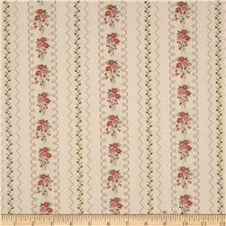 Gentle Gardens Needlepoint Stripe Blush
