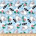 Rosy Sheep Flannel Blue