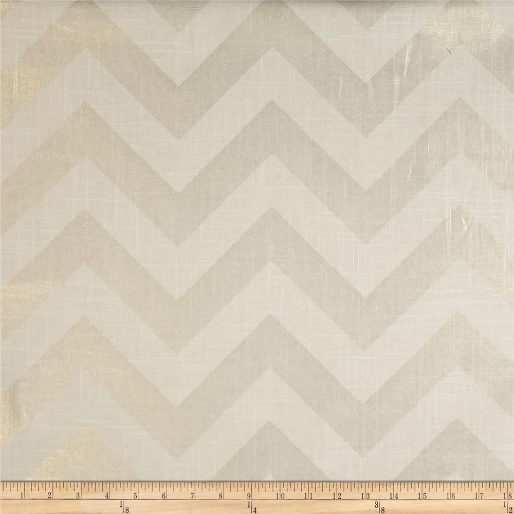 Jaclyn Smith Buster Linen/Cotton Gold Metallic