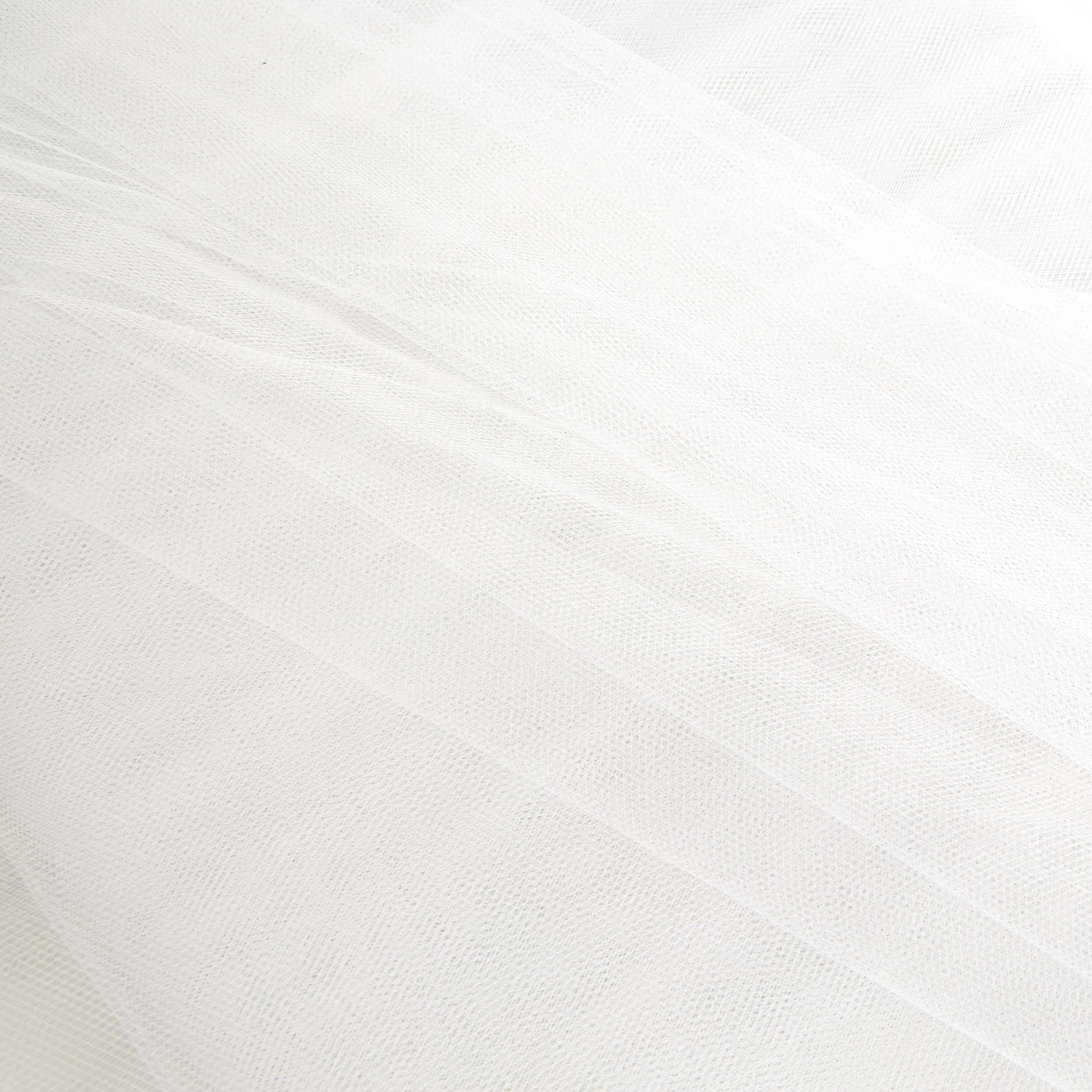 Image of 54'' Wide Tulle Silk White Fabric