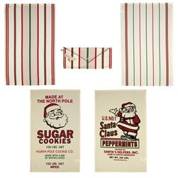 Moda Home Santa's Flour Sack Set/4 Dish Towels