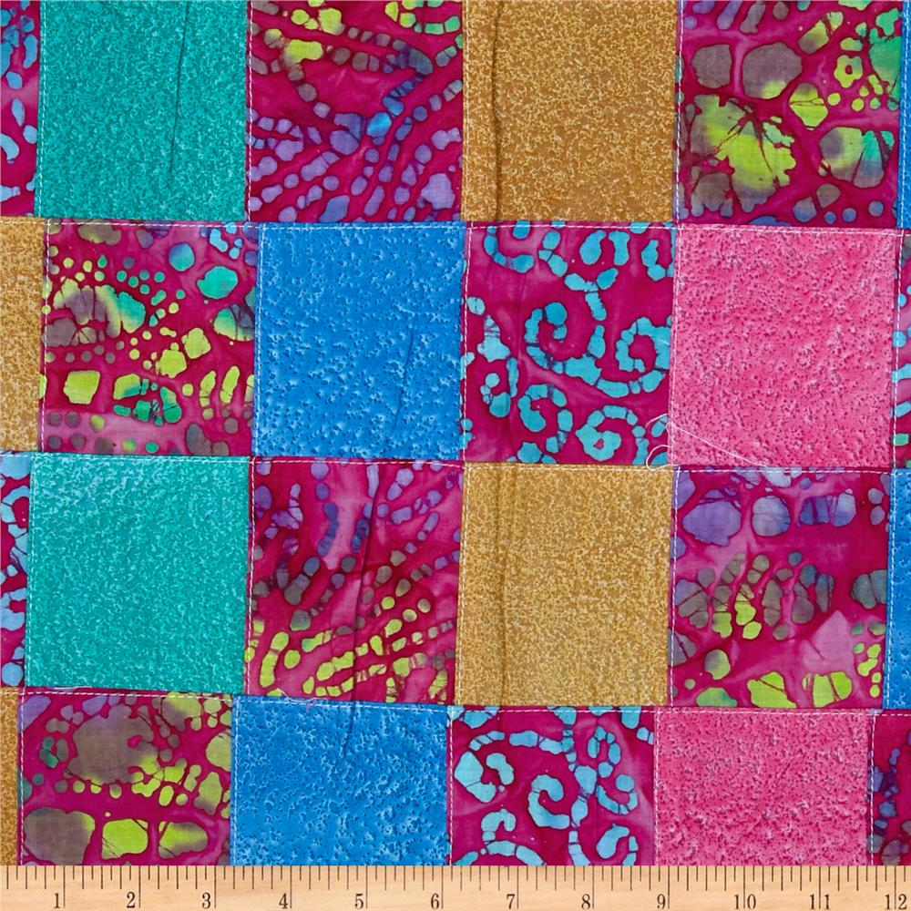 Indian batik pre sewn patchwork pink discount designer for Fabric material for sale