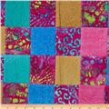 Indian Batik Pre-Sewn Patchwork Pink