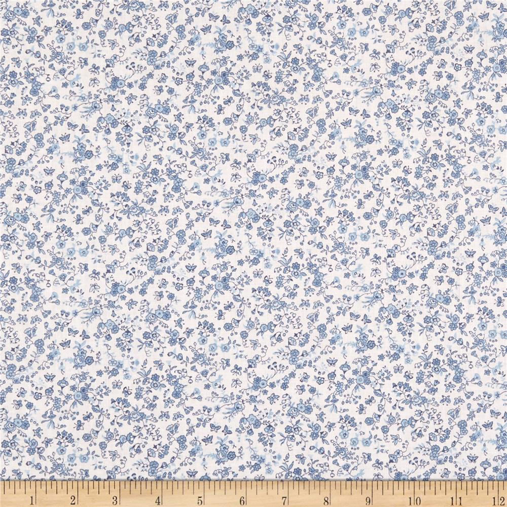 Springs Creative Country Floral Calico Blue Discount