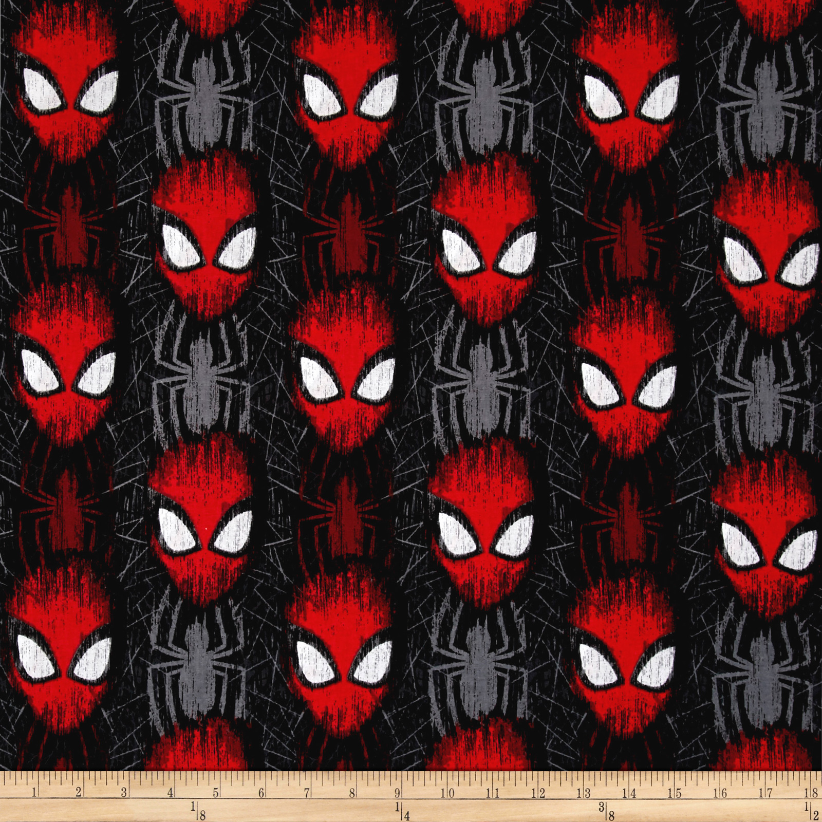 Marvel Spiderman Spider-Man Head Toss Black Fabric 0546157