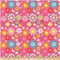 Riley Blake Girl Crazy Floral Pink