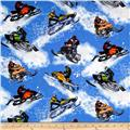 Powder Room Snowmobiles Medium Blue
