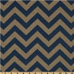 Premier Prints Zig Zag Peacock/Denton Fabric