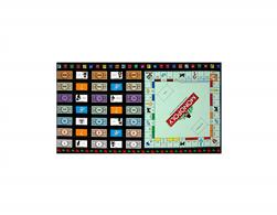 Game Night Monopoly Gameboard 23.5 In. Panel Black