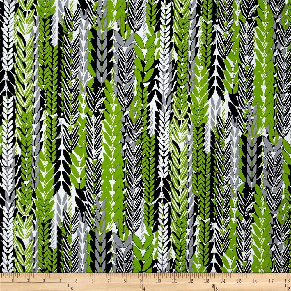 Kanvas Island Blossom Fern Black/Green