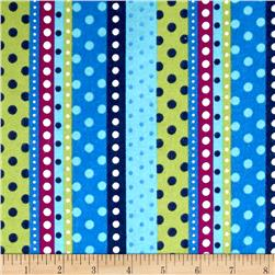 Flannel Dotted Stripe Lagoon